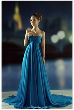 New Ariival 2016 Party Dresses A Line Empire Waist Floor Length Sweetheart Court Train Bridesmaid Dresses