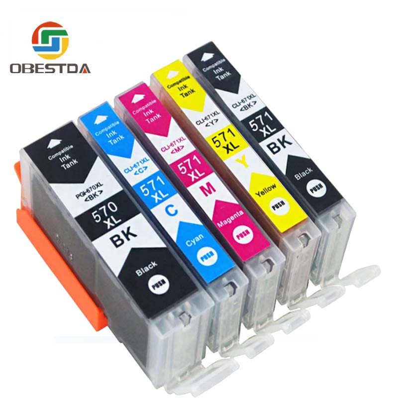 Compitalbe for Canon PGI 570 CLI 571 XL Ink Cartridge For canon Pixma MG5750 MG5751 MG5752