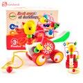 Образовательные утенок прицеп игрушки мини вокруг бисер обучающая игра многоцветный дети дети детские головоломки детские деревянные Игрушки