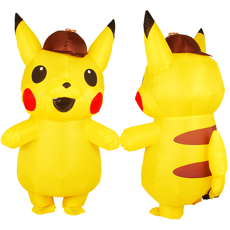 Halloween Pikachu Cosplay Large Pokemon Mascot Costume For Men Adult  Inflatable Costume Cosplay Anime Pokemon Detective Unisex