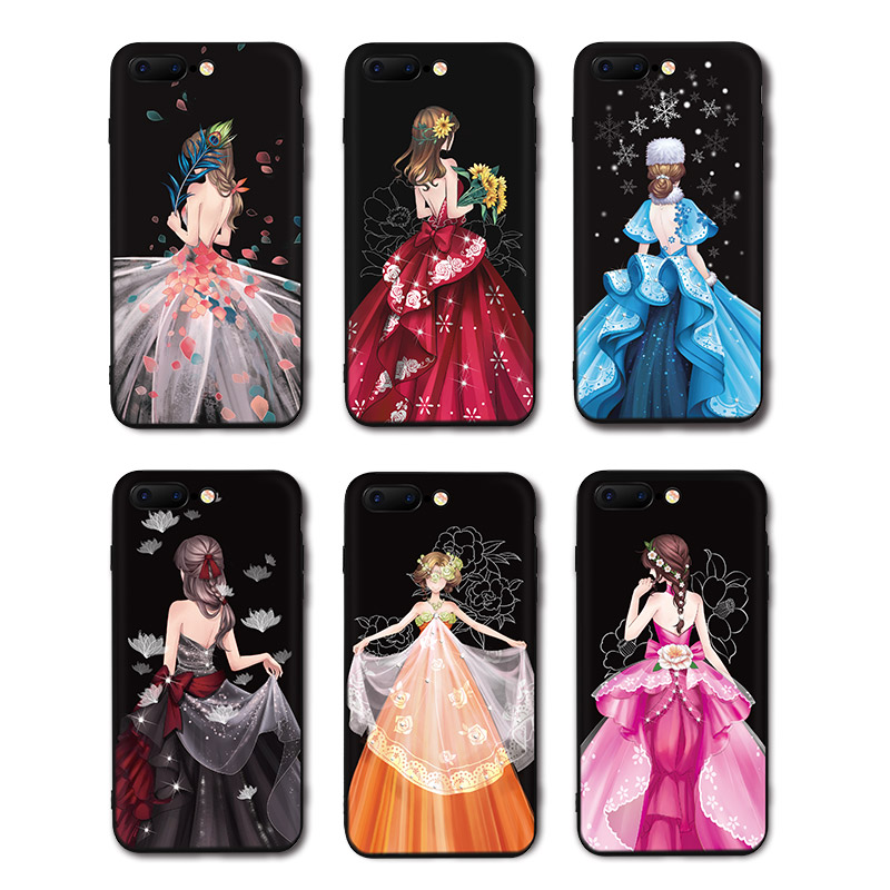 Galleria fotografica IIOZO Luxury Wedding Dress Girl Phone Cases For iPhone 6 6s 6Plus 6splus Ultra Thin Soft Silicone TPU Cover For iPhone 6 Case
