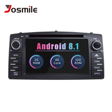 Josmile Android 8,12 Дин автомобильное радио DVD плеер для Toyota Corolla E120 BYD F3 2000 2003 2005 2006 мультимедиа gps навигации
