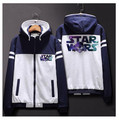Star Wars: The Force Пробуждает Мужчины Женщины Молнию Куртки Кофты Сгущает Толстовка Пальто Clothing Casual