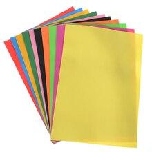 10pcs/lot Lowest Price 10 color A4 Thick Multicolor Sponge Foam Paper Fold scrapbooking Craft DIY 21*29.7*0.1cm