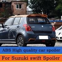 For swift Spoiler High Quality ABS Material Car Rear Wing swift Primer Color Rear Spoiler For Suzuki swift Spoiler 2007 2013
