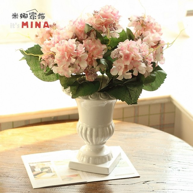 Fashion white wine glass vase hydrangea flower set whole finished fashion white wine glass vase hydrangea flower set whole finished products bowyer mightylinksfo