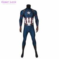 Avengers: Endgame Steven Rogers Captain America Cosplay costume Carnaval Costume Halloween Christmas jumpsuit tights