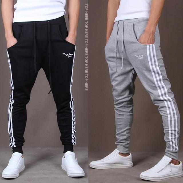 109edd852b Pantalones pantalones casuales deportivos hombre jogging gym ropa para  hombres hiphop pantalones deportivos harem clásicos larga