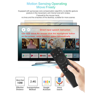 Image 3 - G20S 2.4G Wireless Fly Air Mouse with Microphone gyroscope Voice search IR learning remote control for smart android tv box X96