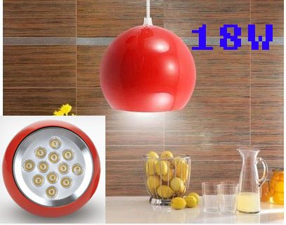 AC90-260V 18W Ball Shop Pendant Lights For Dining Room Modern Free ShippingAC90-260V 18W Ball Shop Pendant Lights For Dining Room Modern Free Shipping