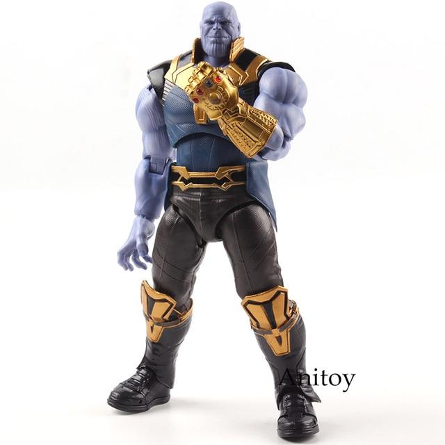 Shfiguarts Avengers Infinity War Mainan Thanos Marvel Legends Action Figure PVC Collectible Model Mainan