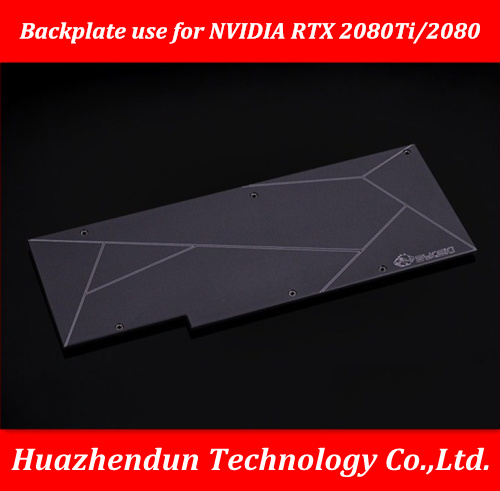Free Shipping Metal Backplate use for <font><b>NVIDIA</b></font> <font><b>RTX</b></font> <font><b>2080Ti</b></font>/2080 Backplane RTX2080TI/2080 3mm Thickness image