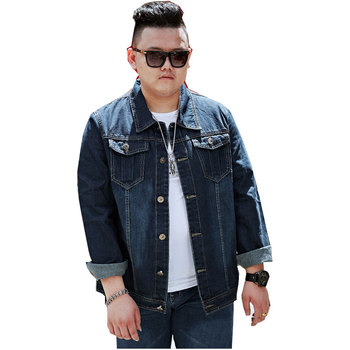 Men Denim Jackets For Men Blue jacket Collar Loose large size Cotton Outerwear jean jacket men Slim Fit Casual With Pockets