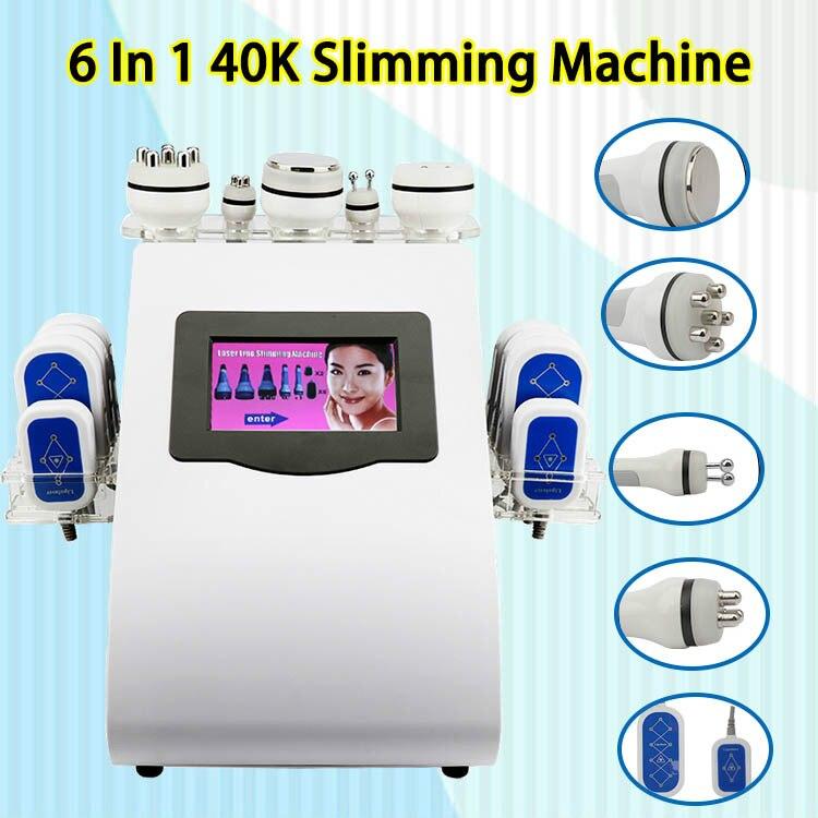 2019 New Promotion 40k Ultrasonic Liposuction Cavitation Vacuum Radio Frequency & 8 Pads Diode Lipo Laser Weight Loss Machine