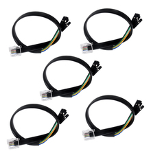 5PCS Dupond Wire Jumper Cable Female to 6P Connector Crystal Head for For BBC micro:bit microbit LEGO EV3 Robotbit Rosbot