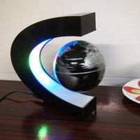 Gifts Magnetic Floating Globe C Shiape Rotating Globe Photo Frame Magnetic Levitation Floating w Light