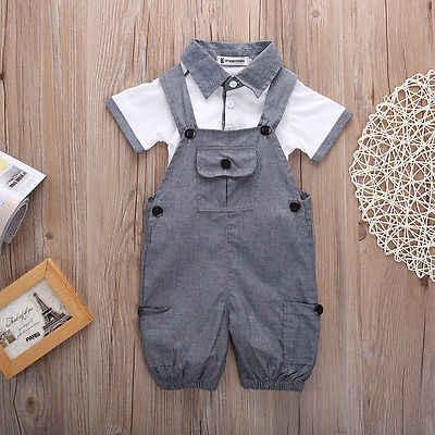 53c13bbab Detail Feedback Questions about 2PCS Newborn Baby Boys Shirt + ...