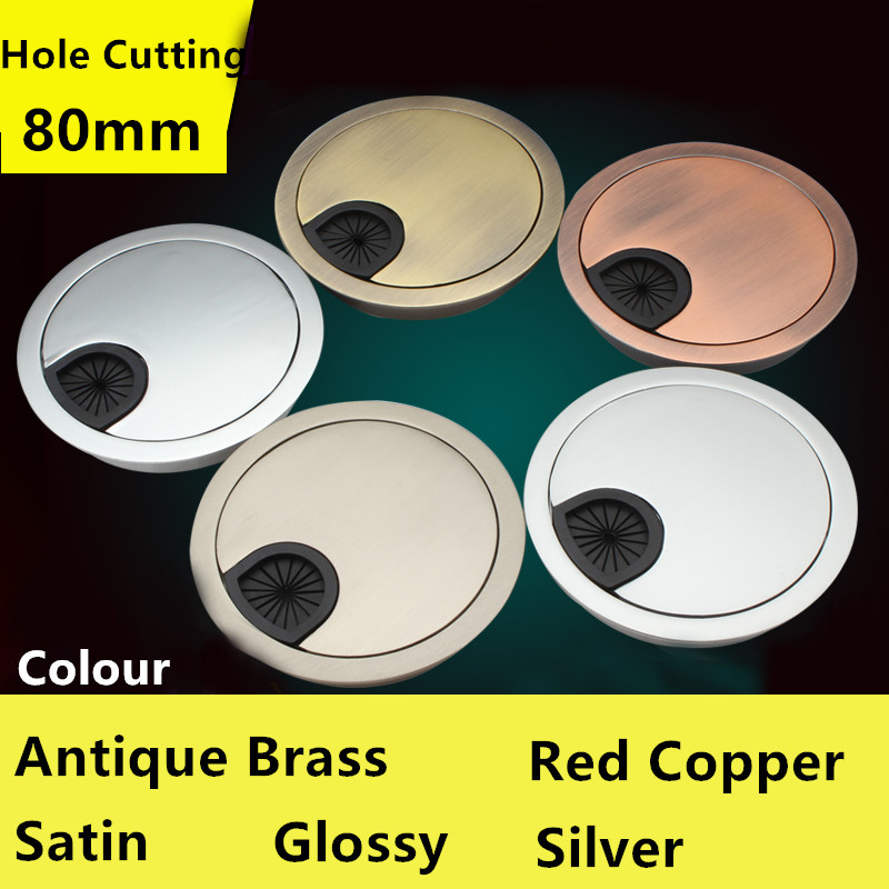 Efficient Hole Cutting Dia.80mm Furniture Hardware Accessories Modern Computer Desk Line Hole Cover Wire Hole Cover Lovely Luster