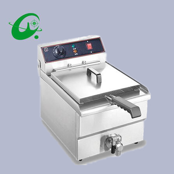 Stainless steel 10L Commercial electric deep fryer Potato french fries chicken single cylinder electric counter top fryer 8l double cylinder electric fryer french fries chicken electric frying pan stainless steel deep fryer machine