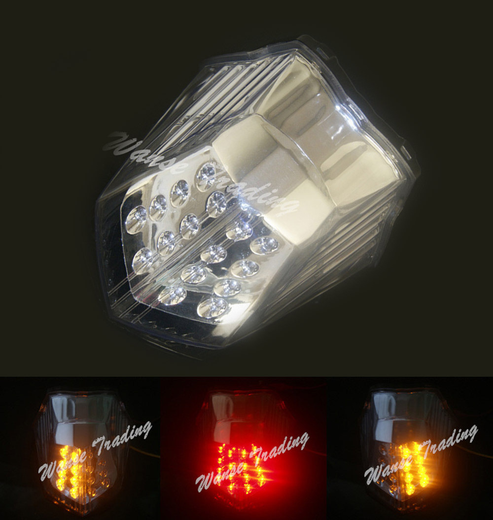 Taillight Tail Brake Turn Signals Integrated Led Light Clear For 2009 2010 2011 2012 2013 2014 2015 YAMAHA Diversion 600 XJ600 aftermarket free shipping motorcycle parts led tail brake light turn signals for 2008 2012 suzuki hayabusa gsx1300r clear