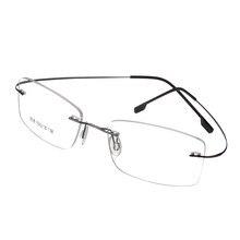 71b480e5cfea7b Gratis Verzending 100% pure titanium Randloze merk brillen frames mannen  Vrouwen optische frame brilmontuur eye bril
