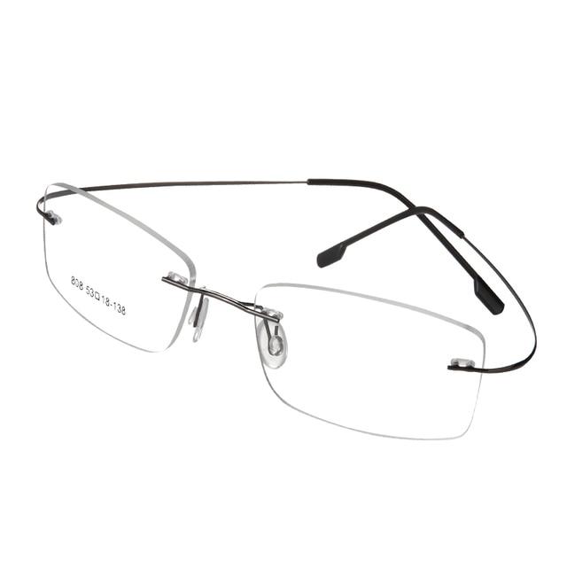 edc6d281e1 Free Shipping 100%pure titanium Rimless brand eyeglasses frames men Women  optical frame spectacle frame