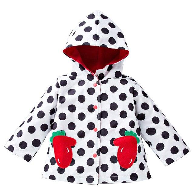 Hooded Girls Jacket Wind Rain Coats Kids Winter Outwear Children Raincoat casaco infantil menina jaqueta de couro roupa inverno