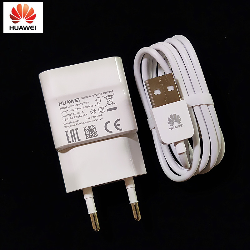Original Honor 7X <font><b>Charger</b></font> <font><b>5V</b></font> 1A <font><b>Usb</b></font> <font><b>wall</b></font> Charge Adapter with Micro <font><b>Usb</b></font> Cable For Huawei Honor 7X 3C 3X 4A 4C 4X G7 P7 P6 mate 7 image