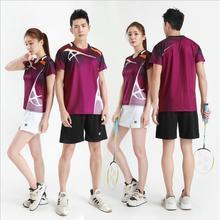Новые быстросохнущие футболки для бадминтона для мужчин/женщин, теннисные шорты, майки для настольного тенниса, футболки для настольного тенниса, спортивные футболки 11916