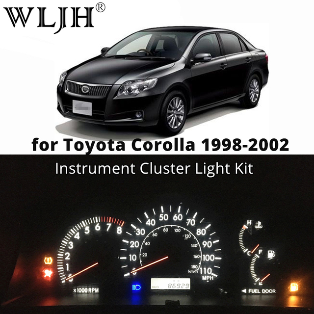 Wljh Car Led Dashboard Sdometer Odometer Gauge Instrument Cer Light Bulb Kit For Toyota Corolla 1998 1999 2000 2001 2002