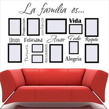 Envío Gratis calcomanías de arte de pared españolas La Familia Es