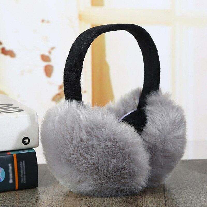 Fashion Faux Rabbit Fur Women Earmuffs For Brand Winter Earmuffs Comfortable Warm Ear Cover Ear Warmers For Girls Adjustable
