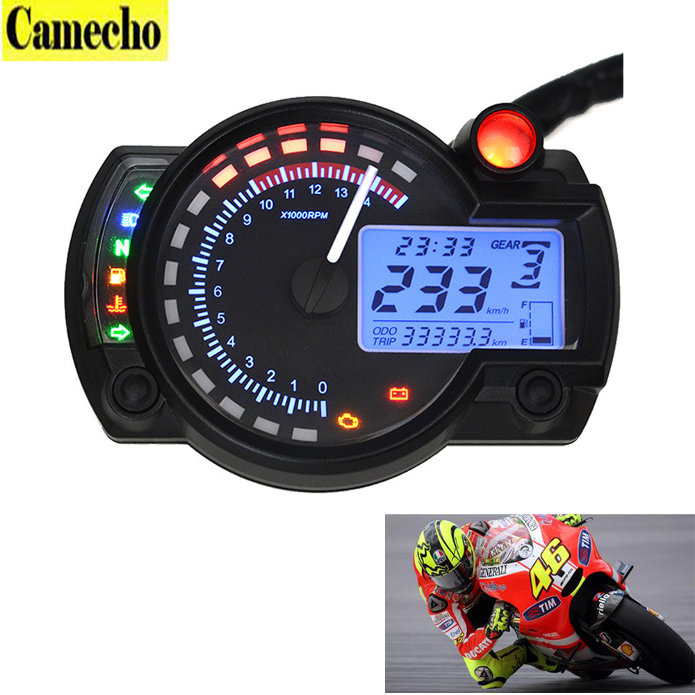 ФОТО 2016 New Universal Motorcycle Digital Speedometer LCD digital Odometer Motorcycle odometer speedometer adjustable MAX 299KM/H
