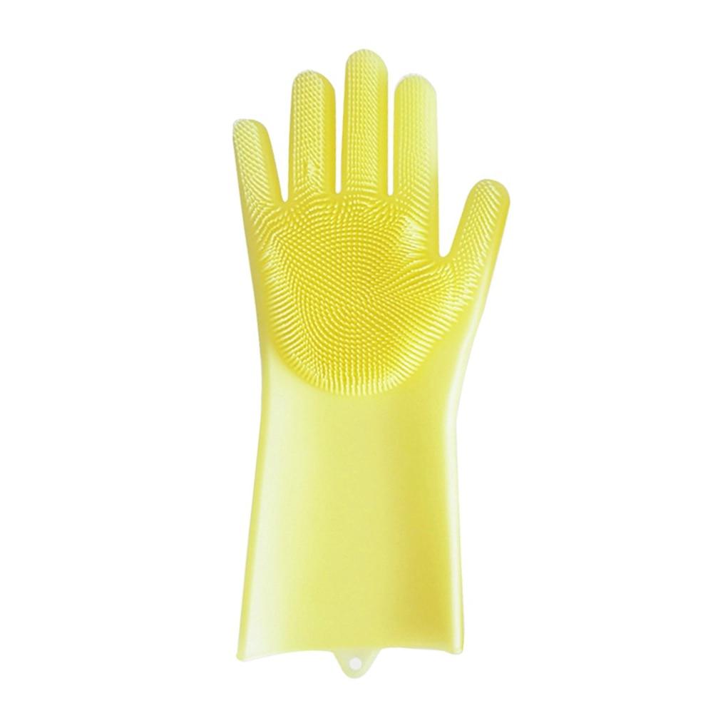 Silicone Portable Multifunction Kitchen Cleaning Tools Random Color 1Pcs Dish Brush Decontamination