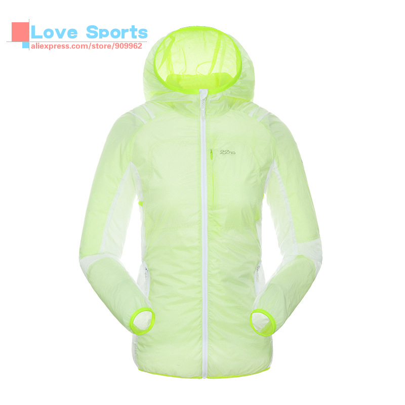 ФОТО Outdoor Leisure Suit Hooded Ultraviolet-proof Sunscreen Light Skin Coat Sport Wear For Women