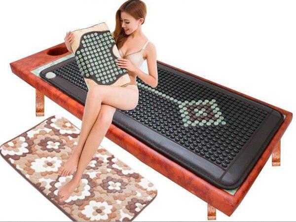 Good Quality Heating Germanium Mattress Far Infrared Negative Ion Jade Electric Sofa bed Mattress Massager 70*160CM