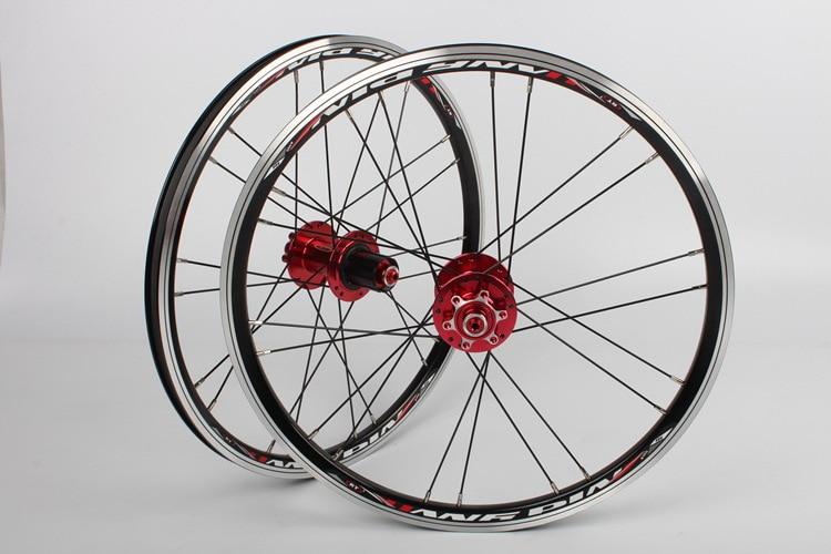 RT A100 451 406 20 pouces vélo petite roue pliante vélo avant arrière ensemble de roues 74-130 100-135
