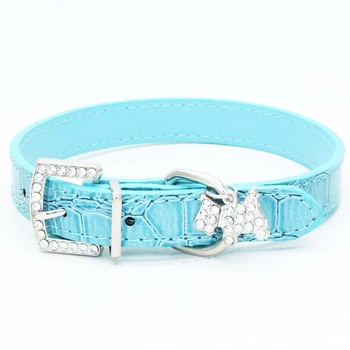 1PCS Crystal Pendant Pet Dog Collar Puppy Cat Pet Buckle Dogs Leads Neck Strap PU Leather Animal Pet Accessories For Small Dogs 1