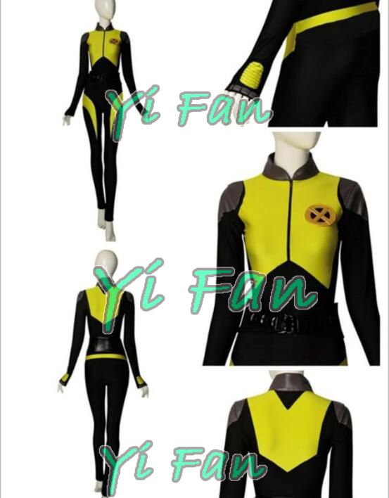 Deadpool Negasonic Teenage Warhead V3 Deadpool Cosplay Costume Spandex Halloween Costumes for Woman Custom Made Zentai Suit