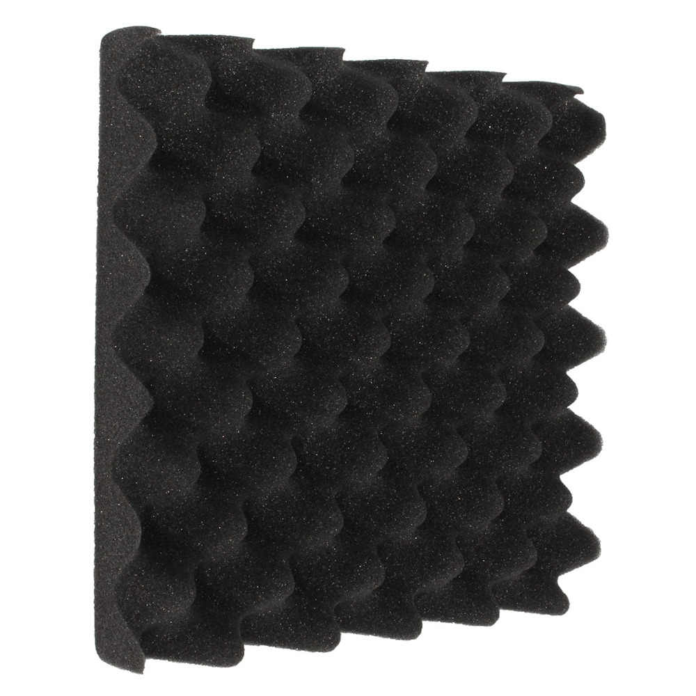 Soundproof Foam 25x25x5CM Black Egg Crate Studio Acoustic Foam Soundproofing Treatment Egg Profile Foam