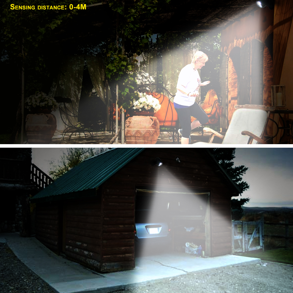 T SUNRISE Outdoor Lighting LED Spotlight A Motion Sensor LED Wall Lights  IP44 Wireless Outdoor Lamp Lighting Of Street Yard In Outdoor Wall Lamps  From ...
