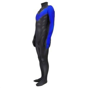 Image 3 - 3D stampa nightwing Costume Cosplay nightwing Zentai Tuta Vestito Tute E Tute Da Palestra costumi di halloween per gli uomini adulti