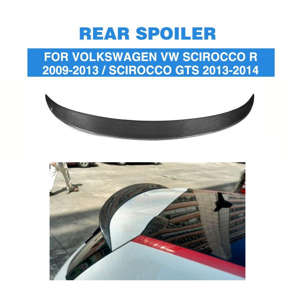 Carbon Fiber / FRP Unpainted Rear Roof Spoiler Wing Lip for Volkswagen VW Scirocco R 2009 - 2013 GTS 2013 - 2014 Non StandardCarbon Fiber / FRP Unpainted Rear Roof Spoiler Wing Lip for Volkswagen VW Scirocco R 2009 - 2013 GTS 2013 - 2014 Non Standard