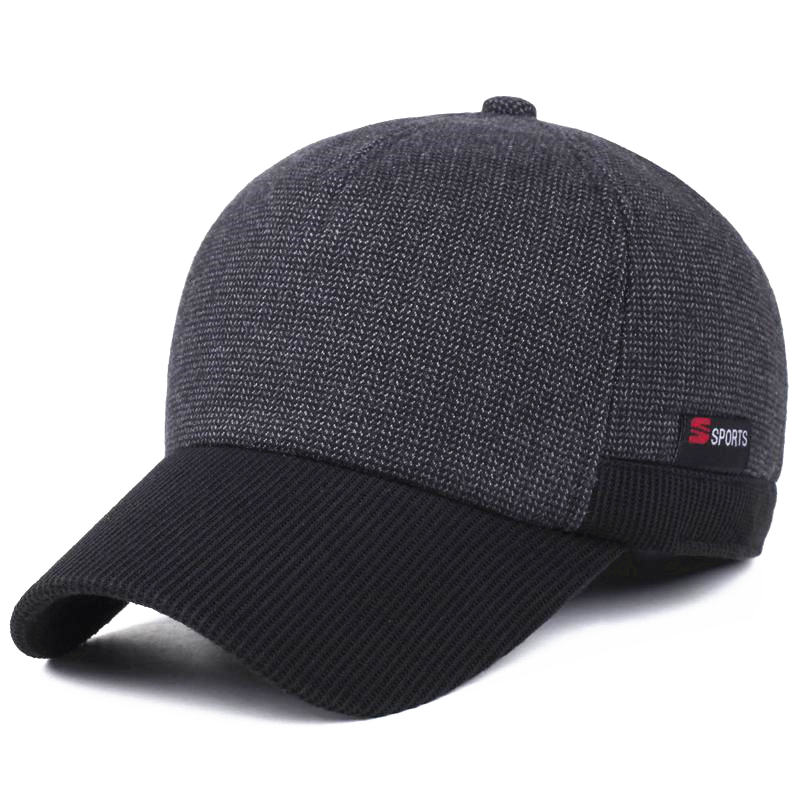2017 new women Woolen Knitted Design Winter Baseball Cap Men Thicken Warm Hats with Earflaps knitted skullies cap the new winter all match thickened wool hat knitted cap children cap mz081