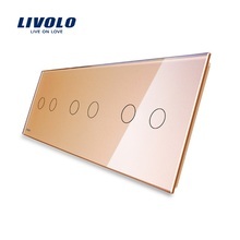 Livolo Luxury Grey Pearl Crystal Glass For DIY Switch,223mm*80mm, EU standard, Triple Glass Panel for switch