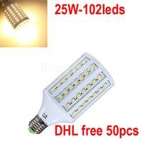 Самая низкая цена 25 Вт свет E27/E14/B22 Светодиодная лампа 360 градусов Светодиодное освещение теплые белый холодный белый, DHL Бесплатная