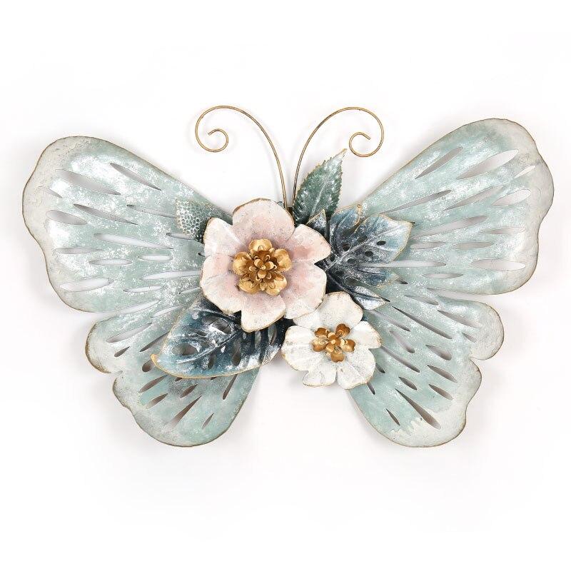Европейский стиль 3D стерео Кованое железо бабочка настенные декоративные гостиной настенные подвесные фрески домашние ремесла художественное украшение R1270 - 5