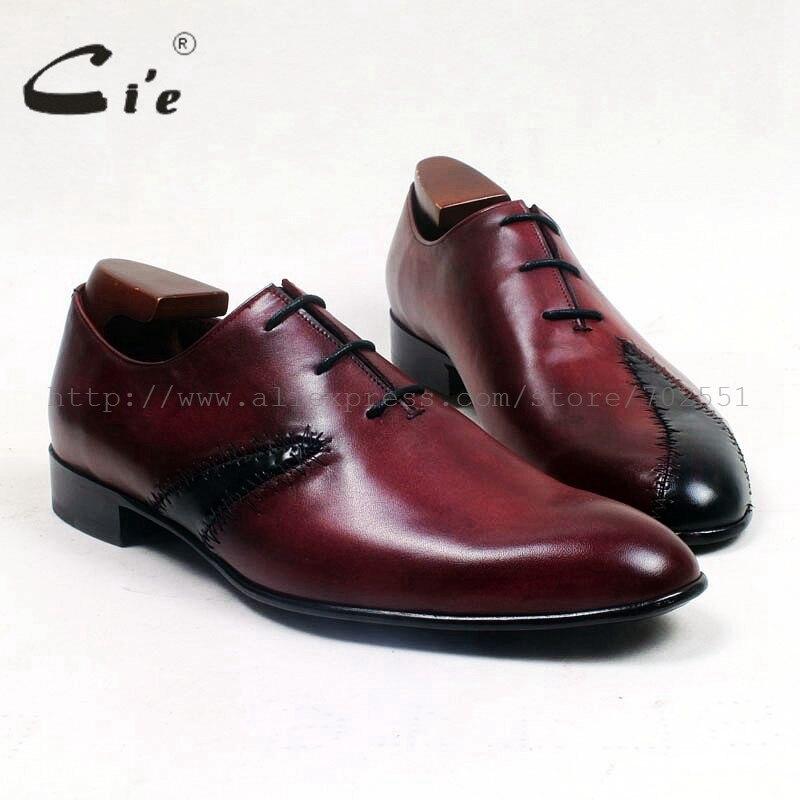 En Semelle Ox514 Blake Hommes Vin Couleurs Mélangées Patches Rond Bout Artisanat Respirant Veau Chaussures Noir Shoe100Véritable Cuir Cie jVzMGqpLSU