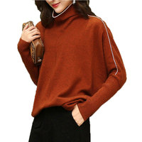 Plus Size Turtleneck Autumn Winter Sweater Women Pullover New Long Sleeved Short Cashmere Womens Sweaters 2018