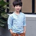 Новый 2017 лето весна хлопок белье малыш футболка для мальчиков одежда футболки мальчик топы с длинным рукавом футболки дети одежда